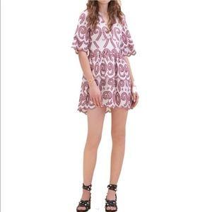 Maje Rember Embroidered Tier Mini Dress NWT 2